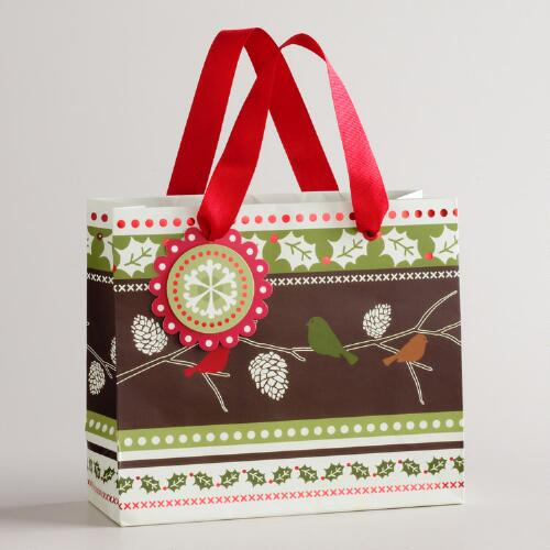Small Birds on a Tree Branch Gift Bag