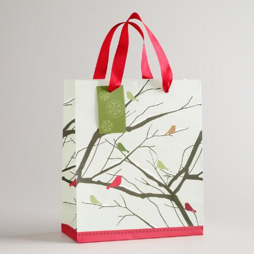 Medium Birds on Branches Gift Bag