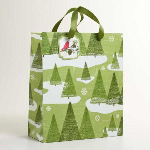 Large All Over Trees Gift Bag