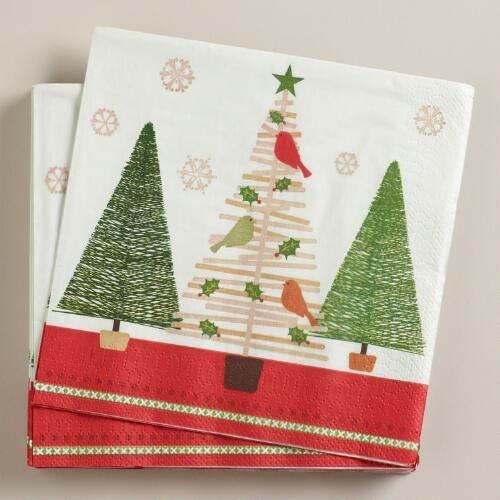Stick Trees Lunch Napkins, Set of 16