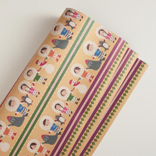 Striped Eskimo Kraft Gift Wrap