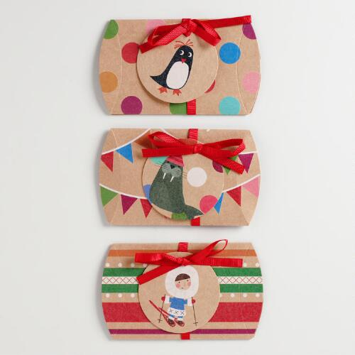 Eskimo Kraft Gift Pouches, Set of 3