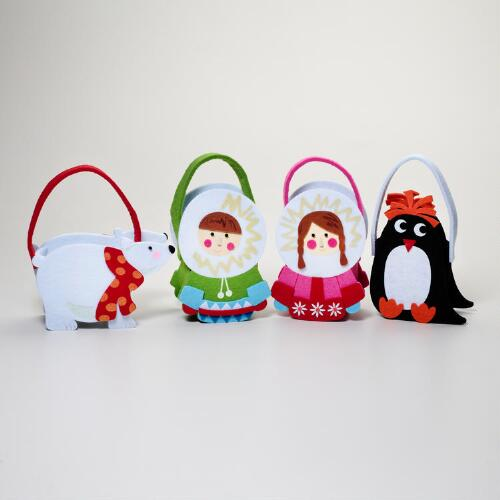 Felt Eskimo Gift Containers, Set of 4