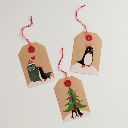 Eskimo Animals Kraft Gift Tags, Set of 3