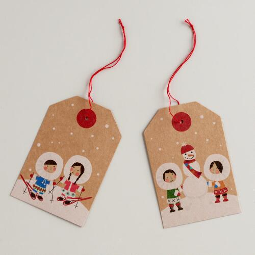 Eskimos Kraft Gift Tags, Set of 3