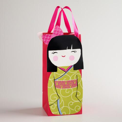 Large Die-Cut Kokeshi Doll Gift Bag