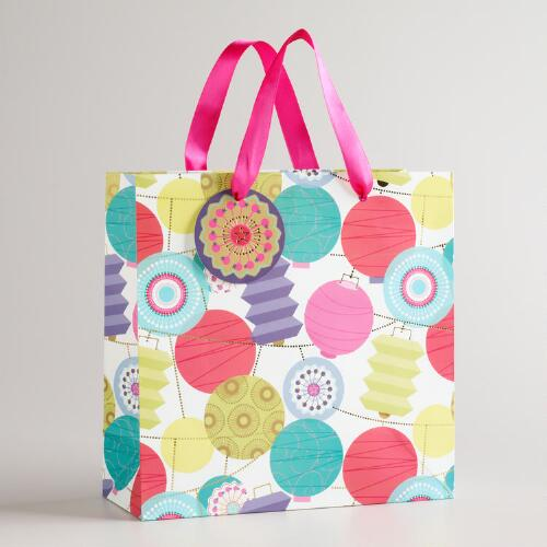 Medium Kokeshi Lanterns Gift Bag