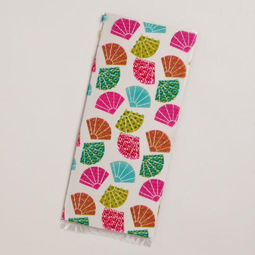 Patterned Fans Cellophane Bags, 8-Pack