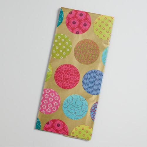 Patterned Dots Kokeshi Tissue
