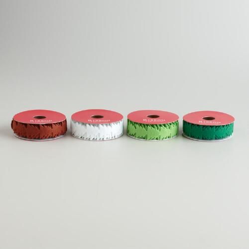 Christmas Tree Felt Ribbon, Set of 4
