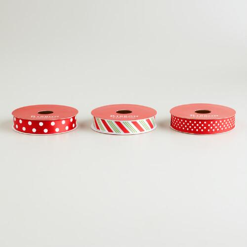 Dots and Stripes Ribbon, 3-Pack