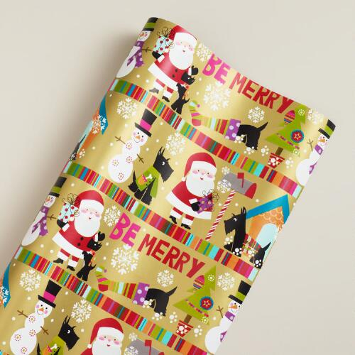 Striped Scotty and Characters Gift Wrap Sheet
