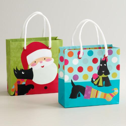 Mini Scotty Gift Bags, Set of 2