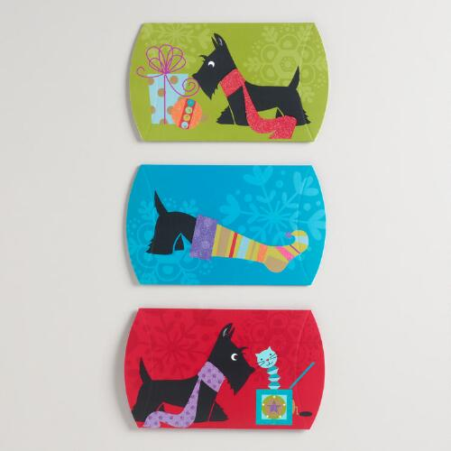 Scotty Dogs Gift Pouches, Set of 3