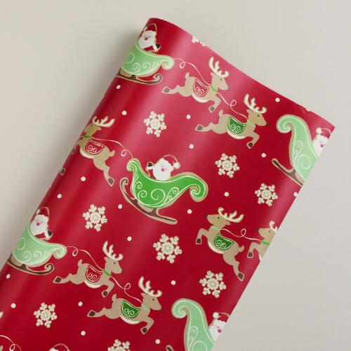 Jumbo Sleigh Sugar and Spice Gift Wrap