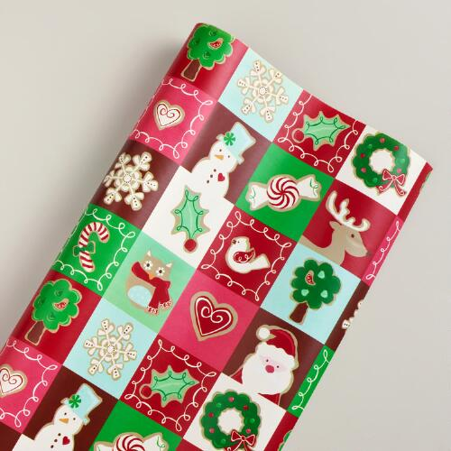 Jumbo Patchwork Sugar and Spice Gift Wrap