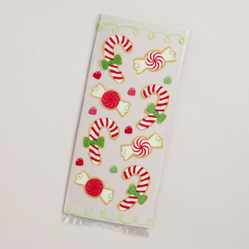 Candy Canes Cellophane Bags, 8-Pack