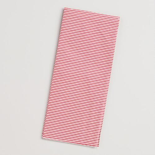 Red and White Striped Tissue