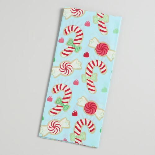 Blue Candy Cane Tissue