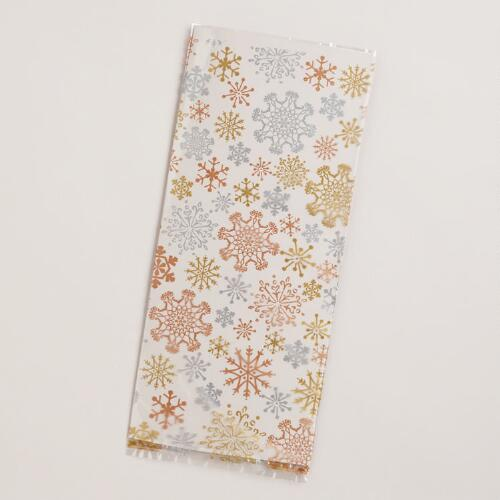 Snowflakes Cellophane Bags, 8-Pack