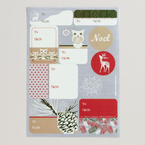 Winter Owls Gift Labels