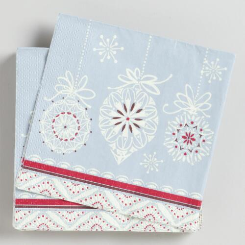 Winter Owls Beverage Napkins, Set of 16