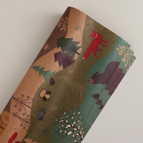 Woodland Kraft Gift Wrap Roll