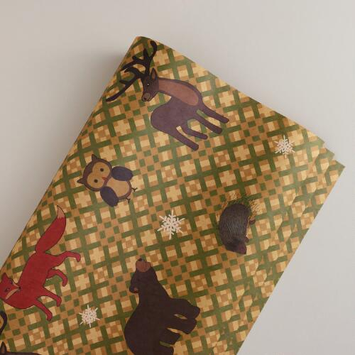 Cross Stitch Kraft Gift Wrap Roll