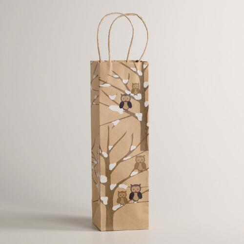 Owls in Tree Kraft Gift Bag