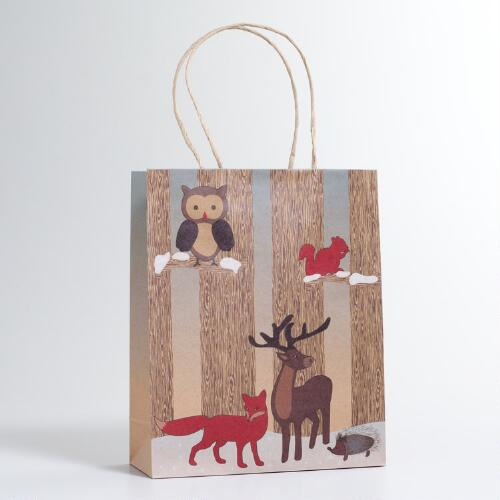 Medium Woodland Forest Gift Bag