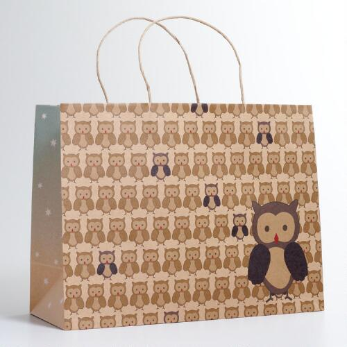Large Woodland Owl Gift Bag