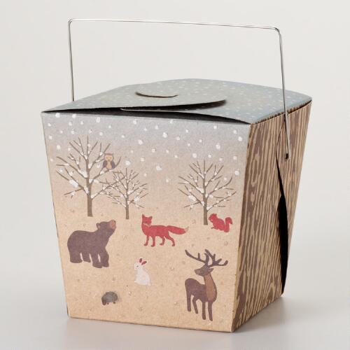 Medium Woodland Take Out Boxes, Set of 6