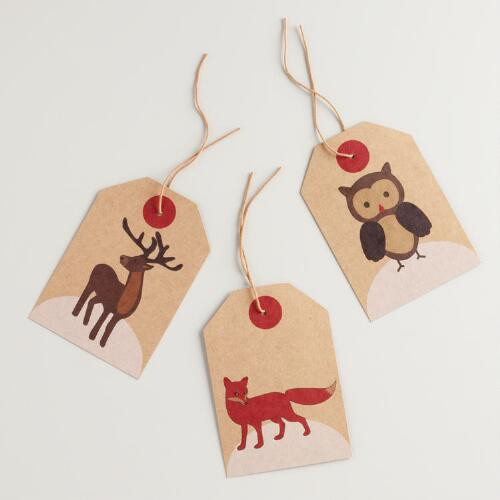 Woodland Gift Tags, Set of 6