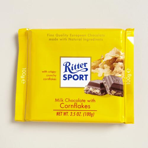 Ritter Sport Milk Chocolate with Cornflakes, Set of 10