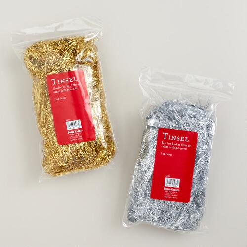 Gold and Silver Tinsel, Set of 2