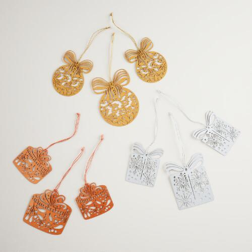 Assorted Die-Cut Noel Gift Toppers, 3-Pack