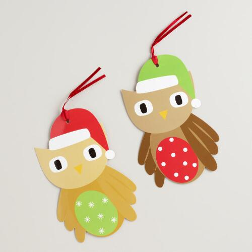 Oversized Owls Die-Cut Kraft Gift Tags, Set of 6