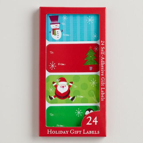 Juvenile Christmas Gift Labels, 24-Pack