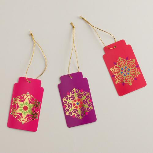 Jeweled Medallions Di-Cut Gift Tags, Set of 6