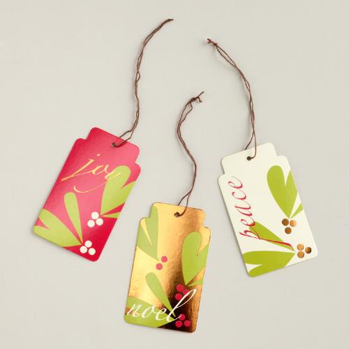 Noel, Joy and Peace Die-Cut Gift Tags, Set of 6