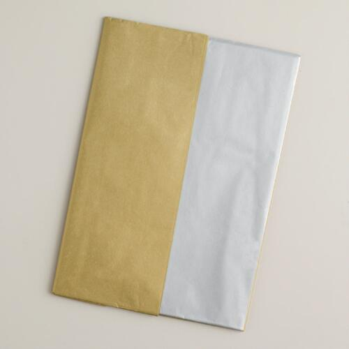 Silver and Gold Tissue, 20-Pack