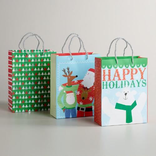 Medium Sweater Friends Value Gift Bags, Set of 3