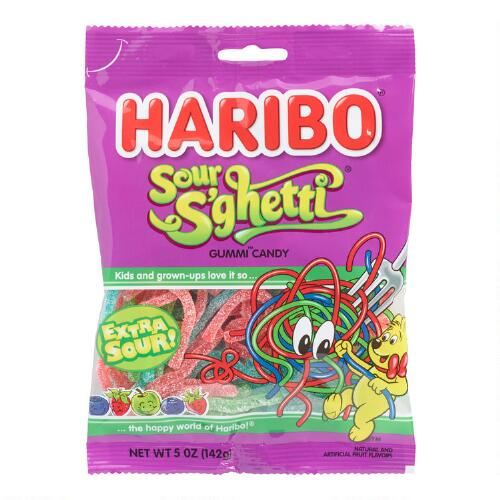 Haribo Sour Gummi Spaghetti, Set of 12
