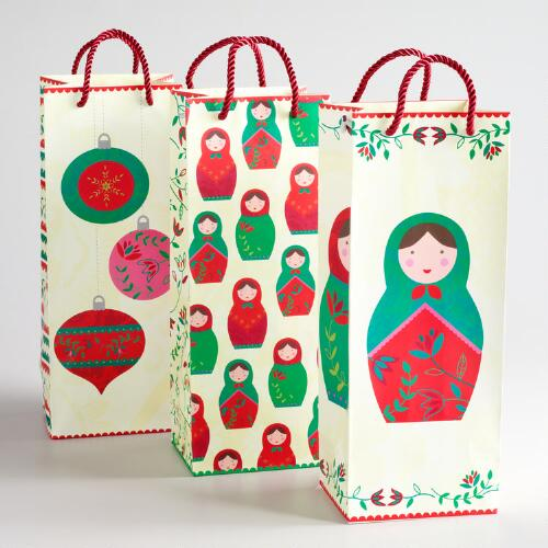 Russian Dolls Value Wine Bags, Set of 3