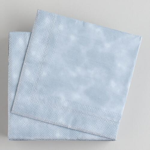 Silver Beverage Napkins, 50-Pack