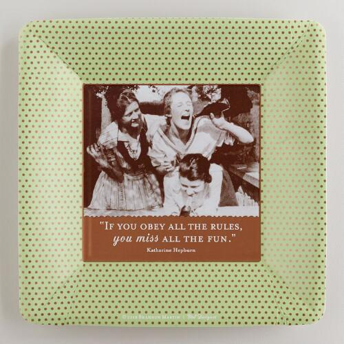 """Obey the Rules"" Small Party Plates, 8-Pack"