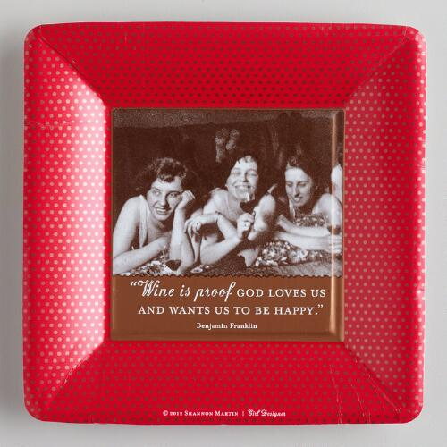 """Wine is Proof"" Small Party Plates, 8-Pack"