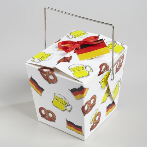 Mini German Flag Take Out Boxes, Set of 12