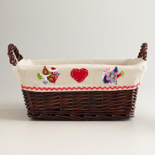 Alpine Birds Serving Basket