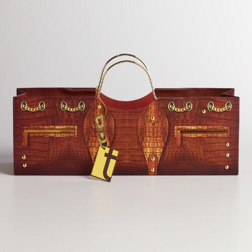 Crocodile Purse Wine Bag